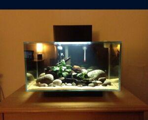 Fluval Edge 2.0 Black Aquarium Kit, 6 Gallon, 30 LBS with brand new extra parts