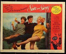 SING AND SWING David Hemmings Gene Vincent  ORIGINAL 1964  MOVIE LOBBY CARD
