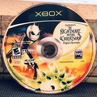 Nightmare Before Christmas Oogies Revenge Xbox AUTHENTIC Game Pumpkin King Vtg