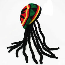 Dreadlocks Wig Hat Reggae Jamaican Style Rasta Hat Crocheted Knitted Beret Cap