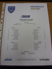 22/03/2014 Colour Teamsheet: Portsmouth v York City  . Thanks for viewing our it