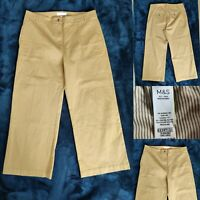 PER UNA Women Camel Brown Trousers Size 16 L L25'' Pockets M&S Immaculate