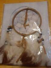 """DREAM CATCHER 4"""" TAN WITH FEATHERS NIP"""