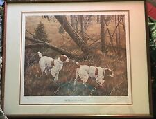 """Brittanies-A-Field"" Hunting Dogs 589/950 Ltd ed Art Signed-Jan Martin McGuire"