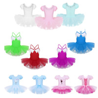 Girls Kids Ballet Dance Dresses Gymnastics Tutu Leotard Skirts Ballerina Costume