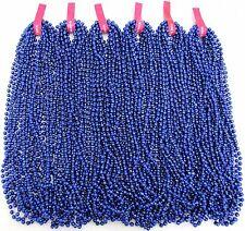 """Mardi Gras Beads 60 Dozen Royal Blue Disco 33"""" Party School Parade 720 Necklaces"""