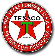 """12"""" TEXACO PETROLEUM PRODUCTS GASOLINE OIL VINYL DECAL FOR GAS PUMP LUBSTER"""