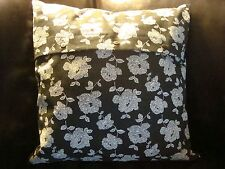 """New IKEA Deco Cushion Pillow Square 18 x 18"""" Two Patterns 100% Ramie Cover"""