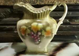 Gorgeous Vintage green Ceramic flowers bath water jug( 30×27cm)