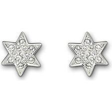 Swarovski Delicate Star Motif Rhodium-Plated Pleasure Pierced Earrings