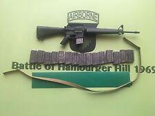 Ace batalla de Hamburger Hill 1969 101st Airborne A1 Rifle & Mags Suelto Escala 1/6