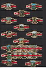 Série complète de 24  Bague de Cigare Label   Taf  Chateau Belgique