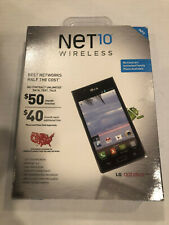 New sealed LG Optimus Showtime Android Prepaid 4gb 5mp 4.3 inch Smartphone Net10