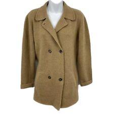 TSE Cardigan Sweater Medium Double Breasted Pocket Longline 100% Cashmere Brown