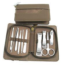10 Piece Premium Gents Manicure Set With Faux Leather Case