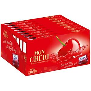 Ferrero Mon Cheri Cherry Liquor Filled Chocolate 157g per Box New Production