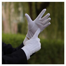 Polyester White Unisex Gloves for Inspection Doorman Santa Magician Comfortable!