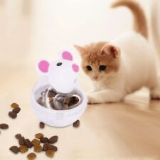 Funny Pet Toys Food Dispenser Feeder Dogs Cats Tumbler Container Plastic Supply