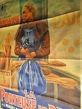 LA PORTEUSE DE PAIN ! tres rare affiche cinema 1934 fernandel ; boulangerie .