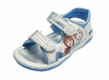 Disney Frozen Girls Blue and Silver Sandals