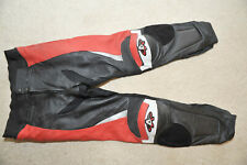Akito Leather (race) bike trousers pants - Size 44/54 - Red/white/black...