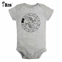 Constellation Pisces Newborn Jumpsuit Baby Long Sleeve Romper Bodysuit Clothes
