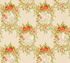 Vlies Tapete Blumen Ornament Floral Landhaus beige grün rot 34499-1 Chateau 5