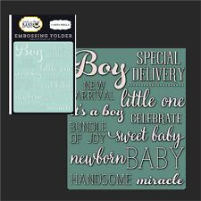 LITTLE ONE BOY folder - Carta Bella embossing folders CBRBB64031 words,phrases