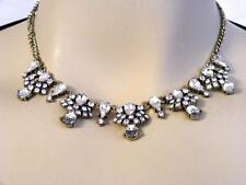 $19 Nordstrom Value Crystal Statement Necklace Brass-Tone Metal Chain 20""