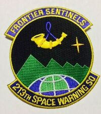 """PATCH USAF 213TH SPACE WARNING SQ SWS ALASKA AIR NATIONAL GUARD  4"""""""