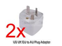 2 US America UK EU Europe -AU NZ CN China AC Power Plug Adapter Travel Converter