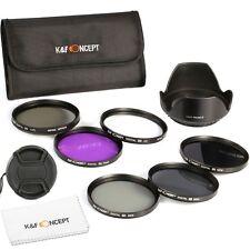62mm Filtro UV CPL FLD ND 2 4 8 Neutra Densidad para Nikon Canon T3i K&F Concept