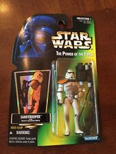 1996 Star Wars Potf Sandtrooper With Heavy Blaster Rifle Action Figure,Misp