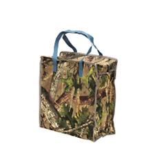 Reusable Shopping Bag in Hunter Camo Pattern Zipper Closure Reinforced Handles