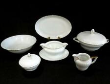 Royal Tettau Porcelain Gold Rim Dinnerware Serving Pieces Konigl Pr Tettau