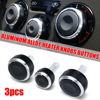 3x Car Heater Dash A/C Switch Knob Control Button Kit For VW Golf MK4