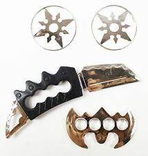 Ninja Warrior Weapons Fancy Dress Shuriken Discs Chakra Knuckle Blades Toys Set