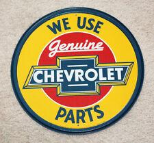 "Genuine Chevrolet Parts 12"" Round Vintage Style Metal Signs Man Cave Garage Dad"