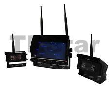 """2 x Funk Digital FHSS Kamera Rückfahrkamera + 7"""" Quad Monitor / 12V-24V / LKW"""