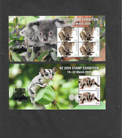 Australia 2020 NZ Stamp Exhibition set of 4 min sheets mnh
