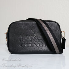 NWT Coach F75818 Leather Jes Crossbody Camera Bag in Black