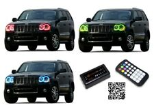 for Jeep Grand Cherokee 05-10 RGB Multi Color Bluetooth Halo kit for Headlights