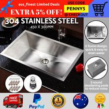 Handmade Stainless Steel Kitchen Laundry Single Sinks Top/Undermount 450 x 300mm