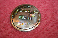 Vintage Silver Tamco Mexico Inlayed Brooch (some inlay missing)