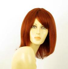 perruque femme 100% cheveux naturel longue cuivré intense ref LISE 130