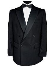 "Finest Barathea Wool Double Breasted Dinner Jacket 48"" Long"