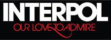 "Interpol Love Music Bumper Sticker  8"" x  3"""