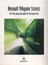 Renault Megane Scenic 1996-97 UK Market Preview Supplement Sales Brochure