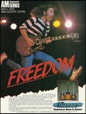 John Bushnell Ibanez AM Stagemaster guitar 1983 ad 8 x 11 advertisement print