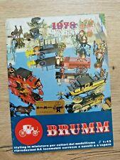 Catalogue de jouet BRUMM 1978 + liste de prix  Voitures chariots - Très bon état